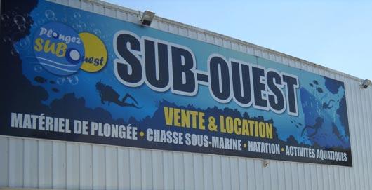 Magasin Sub-Ouest plongée Bordeaux